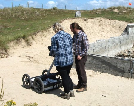 Ground penetrating radar survey